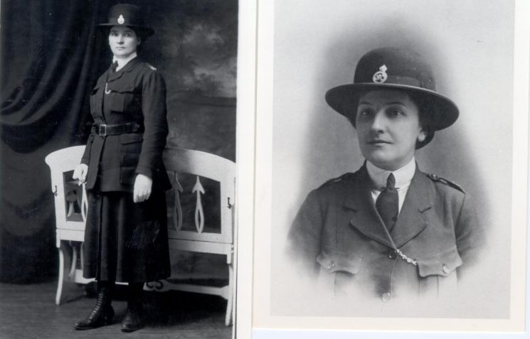 Woman Police Constable Elizabeth Tonra and Woman Police Constable  Marion Sandover two of the  original woman police constables in Gloucestershire. (Gloucestershire Police Archives URN 100)