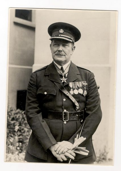 Chief Constable Colonel W Henn. Commander British Empire, Member Victorian Order, Kings Police Medal.  Chief Constable from 1937-1959. (Gloucestershire Police Archives URN 105)