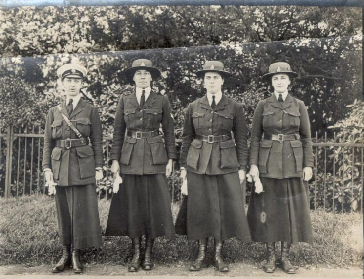 Four Women Police Officers. (Gloucestershire Police Archives URN 106)