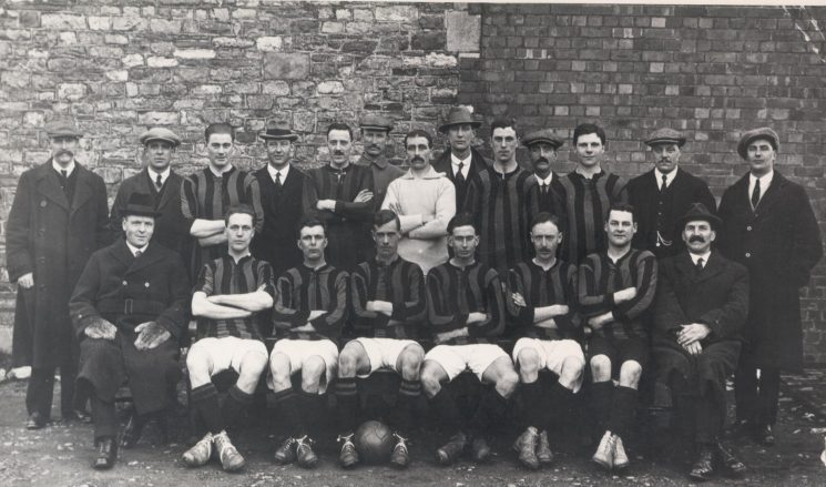 Gloucestershire Constabulary football team - H. Division 1922/3. (Gloucestershire Police Archives URN 119)