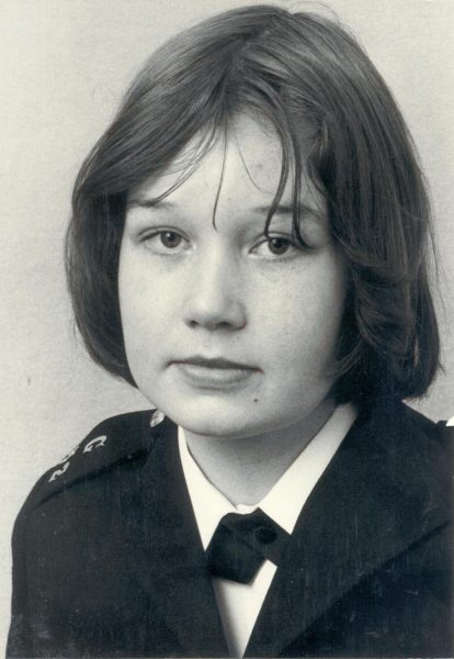 Woman Police Constable Caroline Symes who died as the result of a riding accident in June 1977 - aged 20. (Gloucestershire Police Archives URN 1220-1)