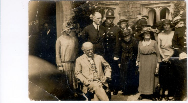 Police Constable Harry Coates  on duty at an event attended by Lloyd George 1925. (Gloucestershire Police Archives URN 1227)