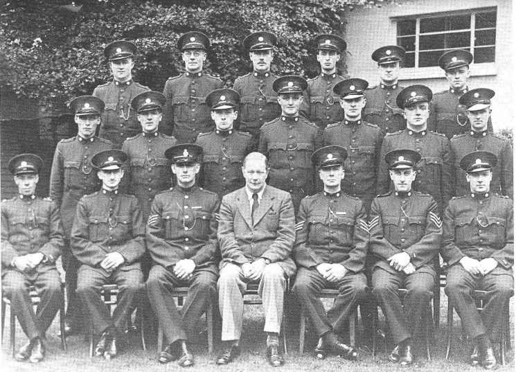 Chief Constable Henn and Special constabulary motor cycle squad 1940. (Gloucestershire Police Archives URN 1479)