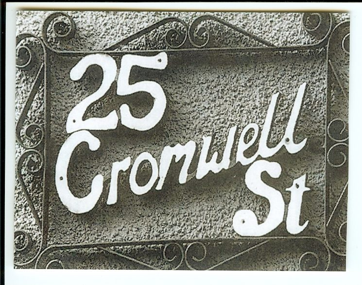 Cromwell Street house name plate. (Gloucestershire Police Archives URN 1526)