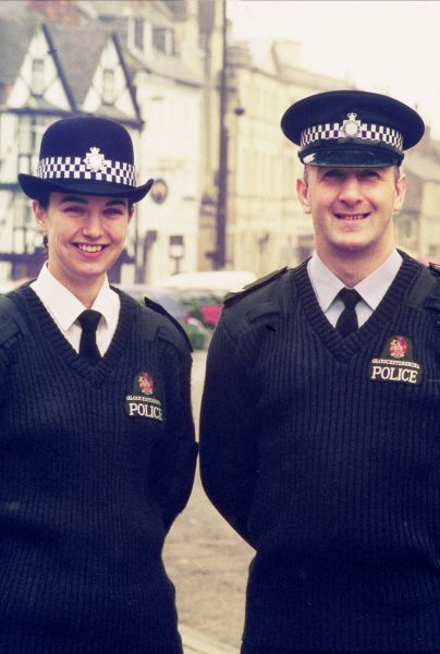 Police Constable  Booker and Police Sergeant Maddern  in Cirencester. (Gloucestershire Police Archives URN 1559)