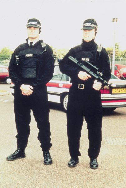 Two armed officers from the Force Firearms Squad. (Gloucestershire Police Archives URN 1561)