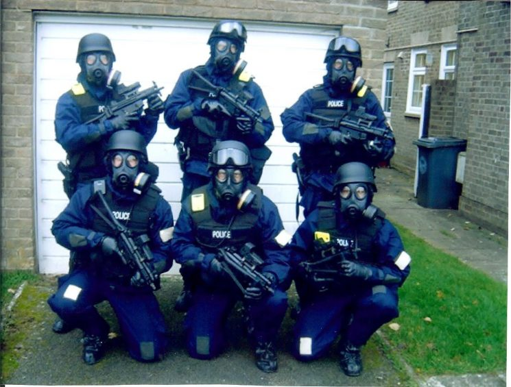Armed Response Officers in full kit 2009 . (Gloucestershire Police Archives URN 1654)