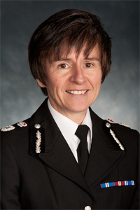 Chief Constable Suzette Davenport. Queens Police Medal, Chief Constable 2013 to 2017. (Gloucestershire Police Archives URN 1822-1)