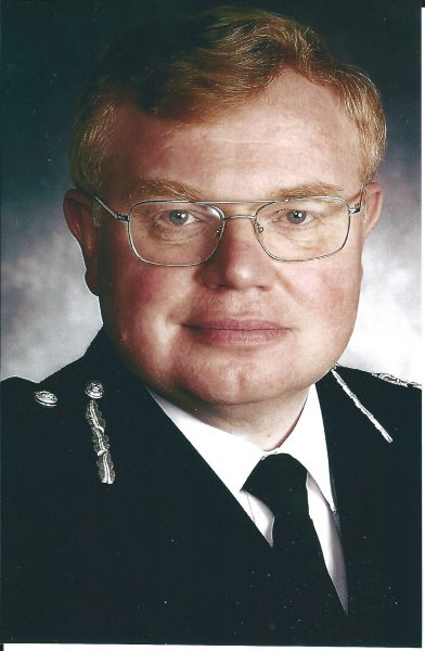Chief Constable Dr Tim Brain, Queen's Police Medal, Chief Constable 2001 - 2010. (Gloucestershire Police Archives URN 1852)