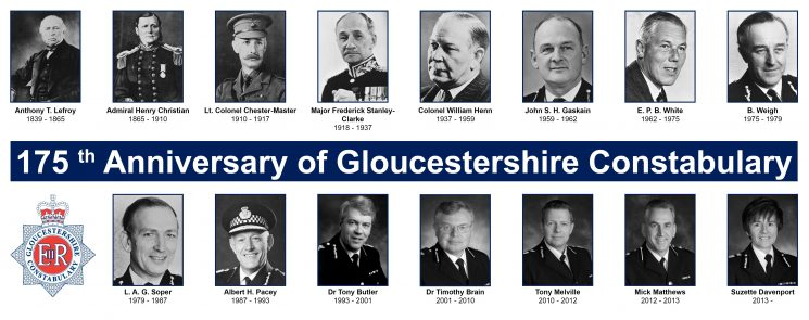 Chief Constables for 175th anniversary. (Gloucestershire Police Archives URN 1857)