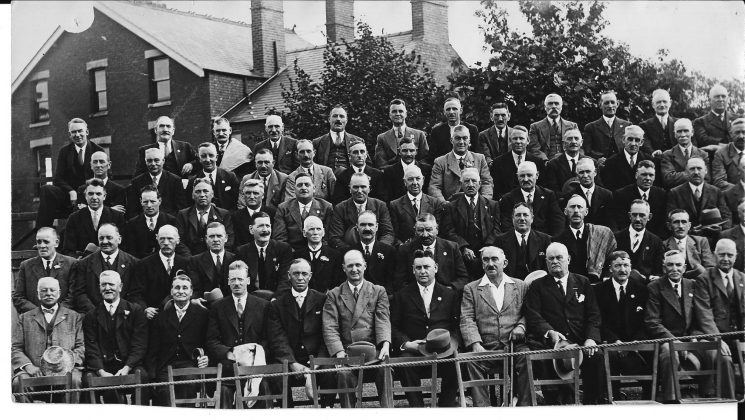 Gloucestershire Police Pensioners  with Detective Superintendent A.V. Hancock back row first on left. (Gloucestershire Police Archives URN 1875)