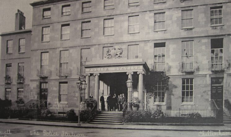 Cheltenham Central Police Station, Crescent Place, early 1900s. (Gloucestershire Police Archives URN 1909)