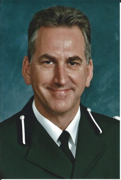 Chief Constable Mick Matthews, Queen's Police Medal, Chief Constable 2012- 2013. (Gloucestershire Police Archives URN 1933)
