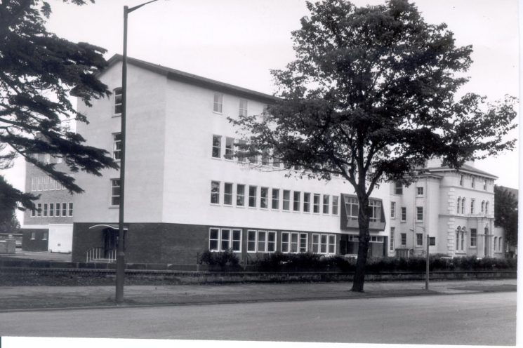 New Cheltenham Divisonal Headquarters (Talbot House) adjoining old Holland House - September 1965. (Gloucestershire Police Archives URN 211(2))