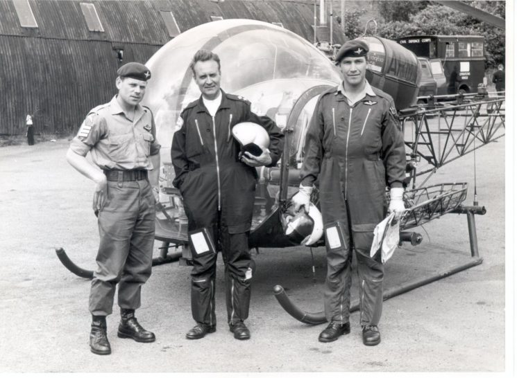 Police Helicopter experiment at Crickhowell - 1968/9 with Inspector K. Sallis as Police observer. (Gloucestershire Police Archives URN 228)