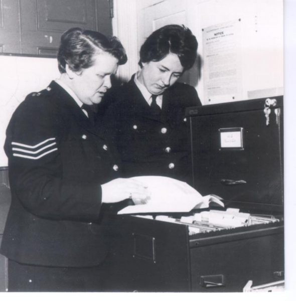 Woman Police Sergeant  D. Blowen and Woman Police Constable Tizzard. (Gloucestershire Police Archives URN 239)
