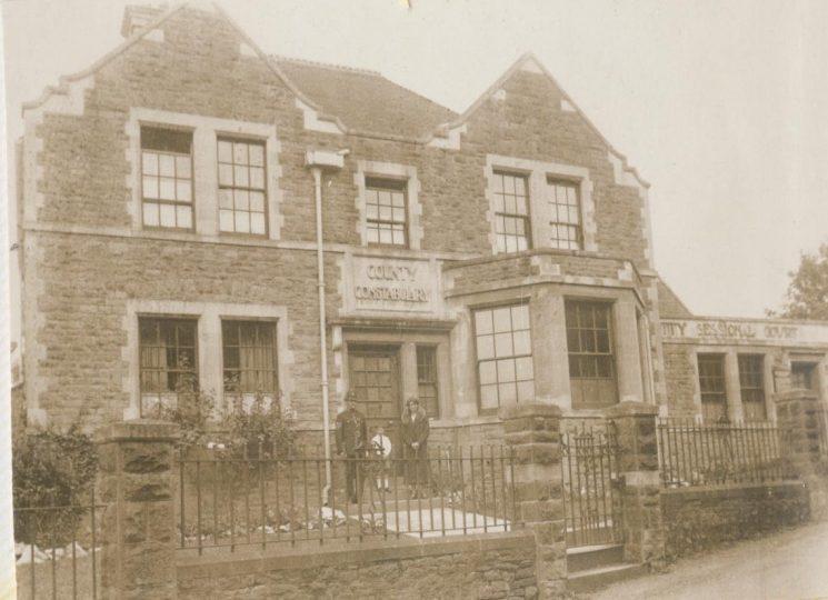 Hallen Police station Bristol 1922. (Gloucestershire Police Archives URN 28)
