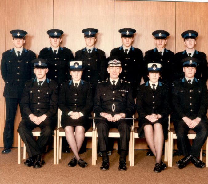 Last intake of cadet recruits with Chief Constable Soper. (Gloucestershire Police Archives URN 385)