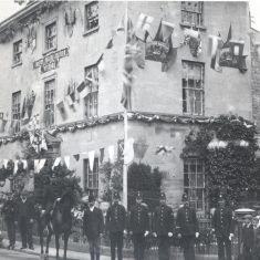 Stroud police station and officers coronation of Edward VII. (Gloucestershire Police Archives URN 46)