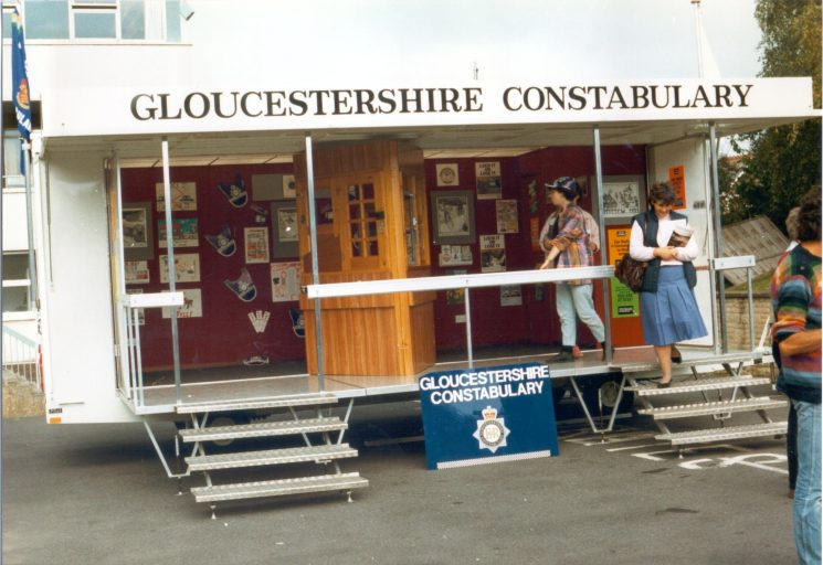 Force Display Caravan at Stroud Police Station Open Day. (Gloucestershire Police Archives URN 504)
