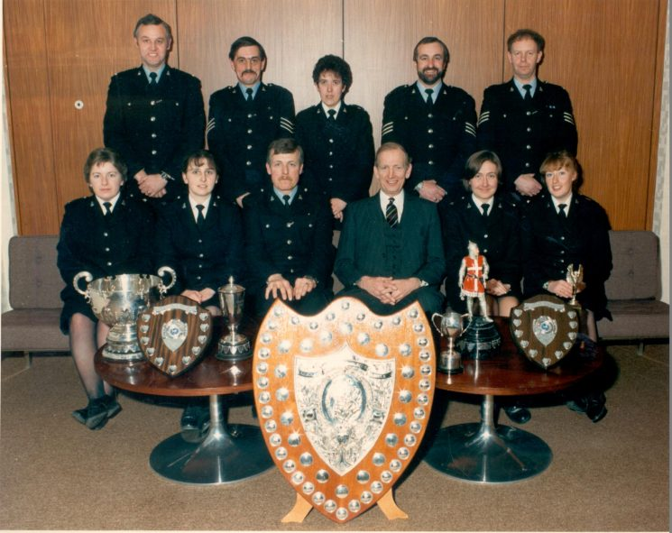 1987 winning Force First Aid Team led by Police Constable  John Williams. (Gloucestershire Police Archives URN 511)