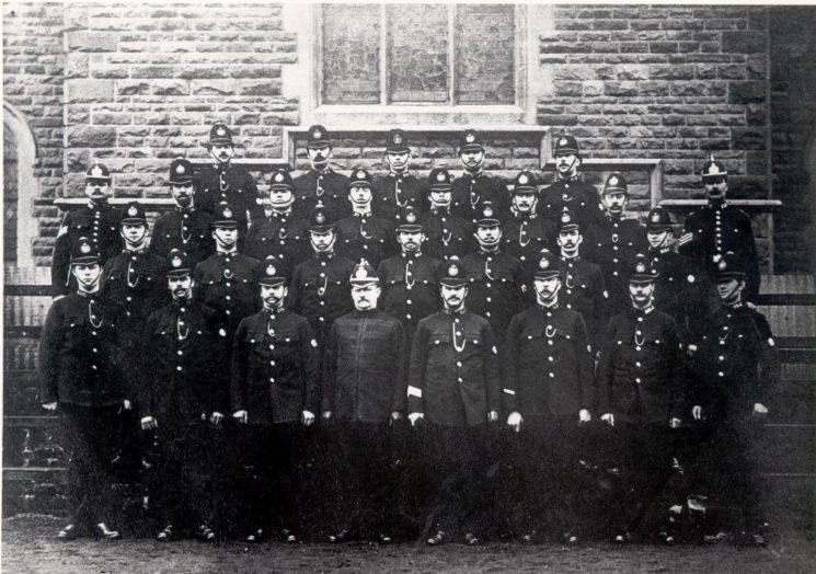 Gloucestershire officers ordered for duty in connection with the Glamorgan Miners Strike at Ton-y-Pandy 1910-11. (Gloucestershire Police Archives URN 56)