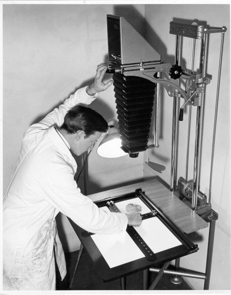 Photo technician 1956. (Gloucestershire Police Archives URN 642)