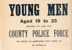 Notice  for Recruitment to County Police Force