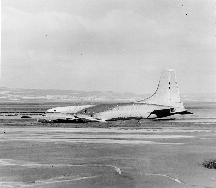Brittania aircraft crash in Severn Estuary near Oldbury in January 1954. Officers on duty at Thornbury Police Station at the time (though not shown in any of the photographs) were Inspector Oliver Mills, Sergeant Alan Ballinger, Police Constables  Ken Roberts, Roy Adlem, and Jerry Lewis (Gloucestershire Police Archives URN 747)