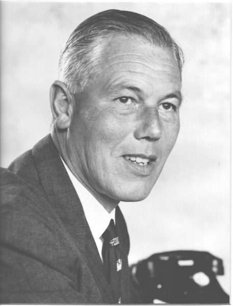 Chief Constable Edwin  White. Order British Empire, Queens Police Medal. Chief Constable 1963 - 1975. (Gloucestershire Police Archives URN 751a)