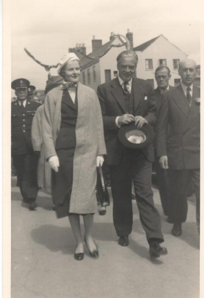 Anthony Eden and his wife on visit to Gloucester also shows Superintendent  W. Hart. (Gloucestershire Police Archives URN 780)