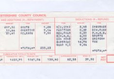 Sergeant Pay Slip 1974