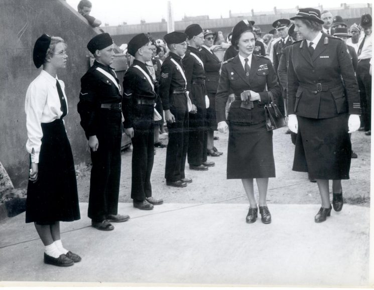 Princess Margaret on her visit to Gloucester 1958. (Gloucestershire Police Archives URN 876-6)