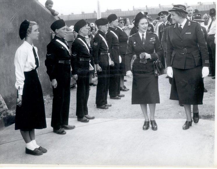 Princess Margaret on her visit to Gloucester 1958. (Gloucestershire Police Archives URN 876-6)