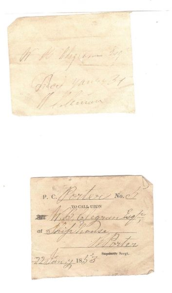 Visiting Tickets used by  Police Constables when  on patrol to prove that they had patrolled a particular area. (Gloucestershire Police Archives URN 963-2)