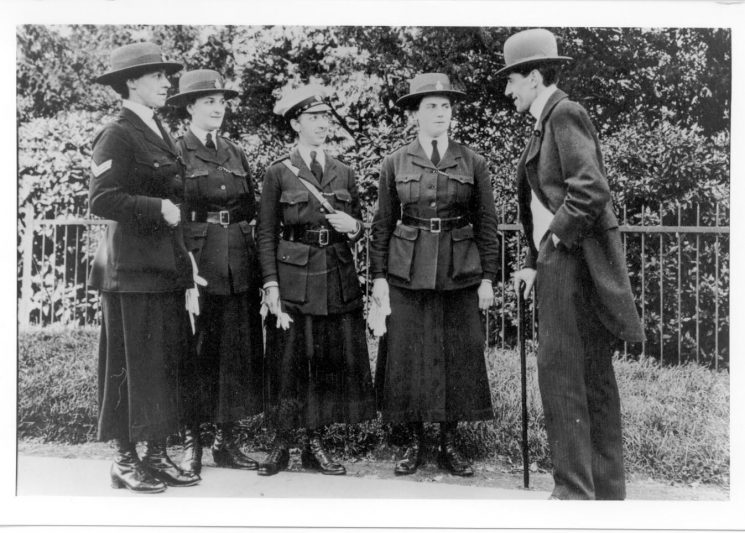 Four unidentified Women Police Officers one a sub inspector. (Gloucestershire Police Archives URN 108)