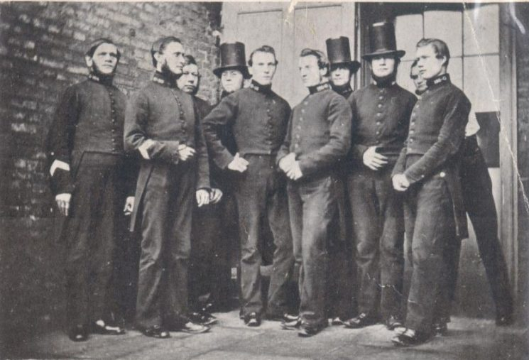 Officers at Northleach Police Station 1860. (Gloucestershire Police Archive URN 11)