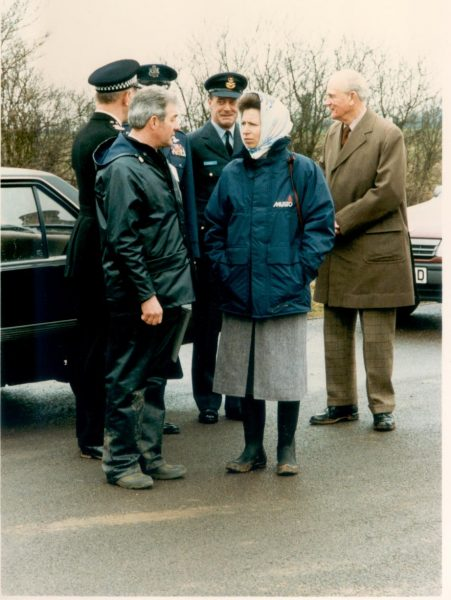 Princess Anne attending police dog trials 1982. (Gloucestershire Police Archives URN 1263)