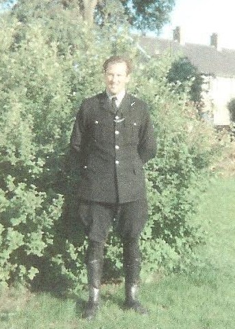 Police Constable 830 Brian Roebuck as a main road motorcyclist 1969. (Gloucestershire Police Archive URN 1590)
