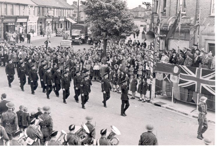 Parade at Filton 1944. (Gloucestershire Police Archives URN 168)