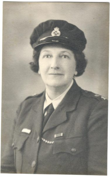 Woman Police Constable Marian Elsie Sandover on retirement 1948. (Gloucestershire Police Archives URN 184)