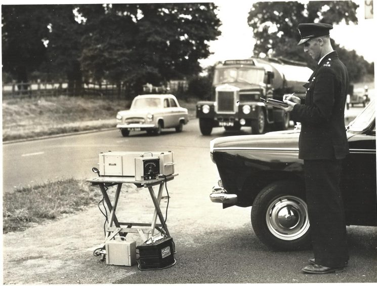 Marconi  Portable Electronic Traffic Analyser (PETA) Type S350 - 1965. (Gloucestershire Police Archives URN 2011-4)