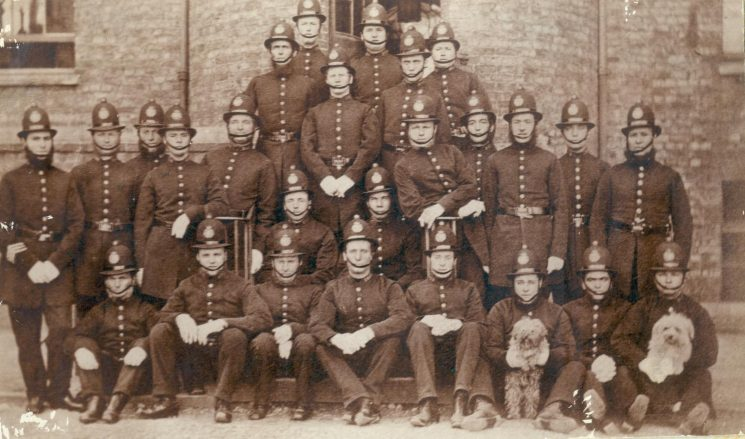 Constables at Cheltenham Police Station 1872. (Gloucestershire Police Archive URN 26)