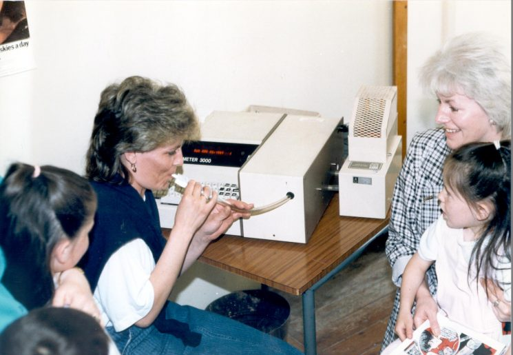 Demonstration of Lion Intoximeter at Police open day Cheltenham. (Gloucestershire Police Archives URN 487)
