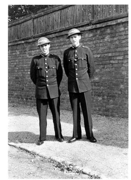 Police Constables F.W. Hudson and P. Falconer taken at Police Headquarters 1940. (Gloucestershire Police Archives URN 575)