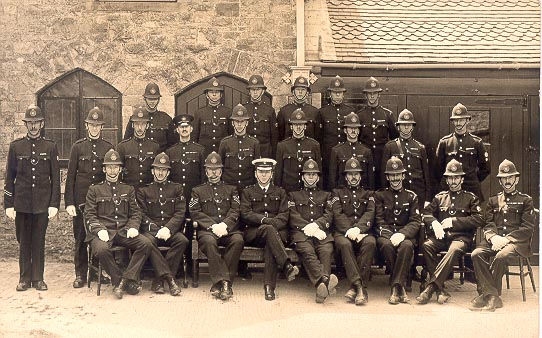 All ranks at Divisional Parade  at Chipping Sodbury Police Station 1927. (Gloucestershire Police Archives URN 613)