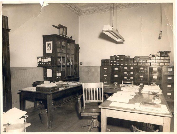 Cheltenham Criminal Investigation Department office - at Police Headquarters Holland House  Cheltenham. (Gloucestershire Police Archives URN 632)