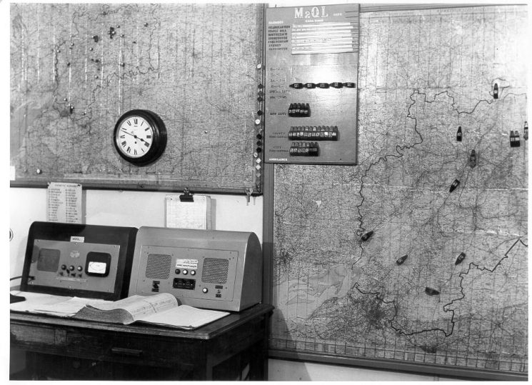 Headquarters Information Room 1957. (Gloucestershire Police Archives URN 643)