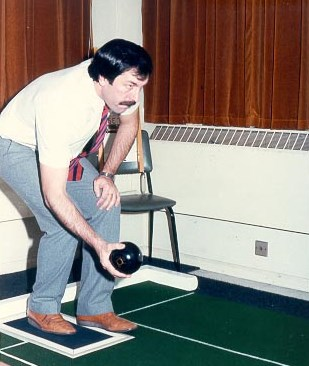 Detective Constable Michael Jordan British Bowls Champion in action. (Gloucestershire Police Archives URN 696)