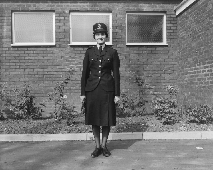 Woman Police Constable Sylvia Price in new  uniform 1965. (Gloucestershire Police Archives URN 1085)